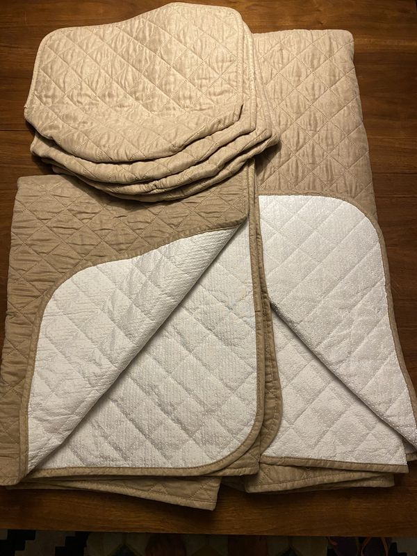 2 Sets Waterproof Quilted Dog, Baby Couch Covers