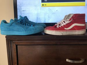 Size 11 vans Size 10 Pumas for Sale in Biloxi, MS