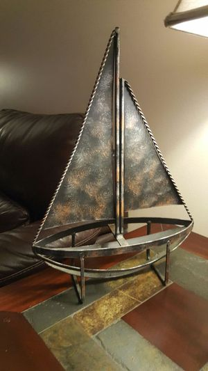Vintage Metal Art Ship for Sale in Chapel Hill, NC
