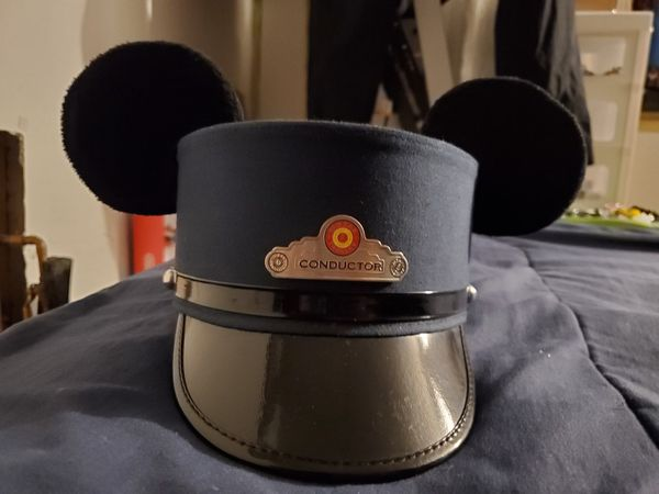 Disney Conductor Hat Mickey Mouse Ears Disneyland Red Car Trolley