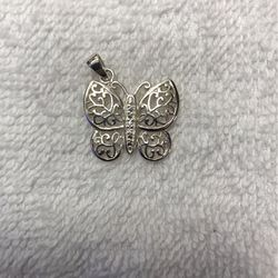 Sterling Silver Butterfly Charm/ Pendant for Sale in Alexandria,  VA