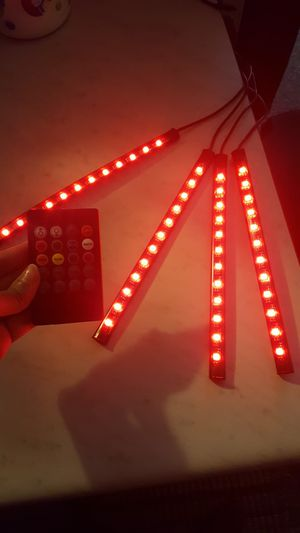 Led cars strip light with remote control included plus for Sale in Waukegan, IL
