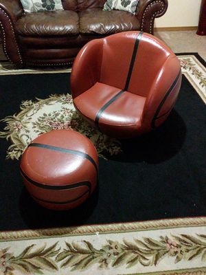 All Star Basketball Chair and Ottoman for Sale in Wichita, KS