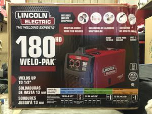 Lincoln Electric 180 Amp Weld-Pak 180 HD MIG Wire Feed Welder with Magnum 100L Gun, Gas Regulator, MIG and Flux-Cored Wire, 230V for Sale in Whittier, CA