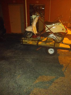 4x6 homemade utility trailer with scooter and lawn mower for Sale in Palmetto, FL