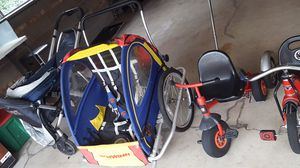 Bike stroller and bike trailer for Sale in Chicago, IL