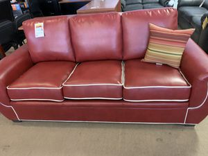 red sofa with white trim for Sale in Phoenix, AZ