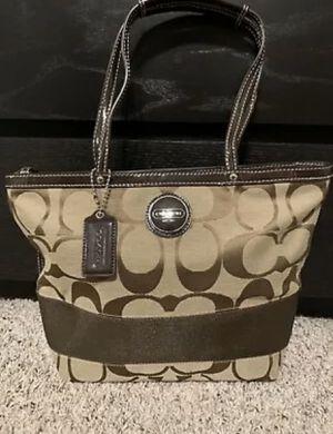 Coach Handbag purse tote khaki brown for Sale in Pearland, TX