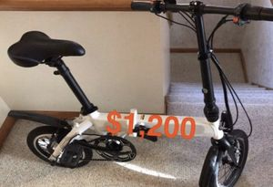 Electric Foldable Bicycle for Sale in Riverside, IL