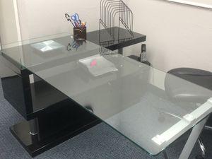 Modern glass desk for Sale in Irving, TX