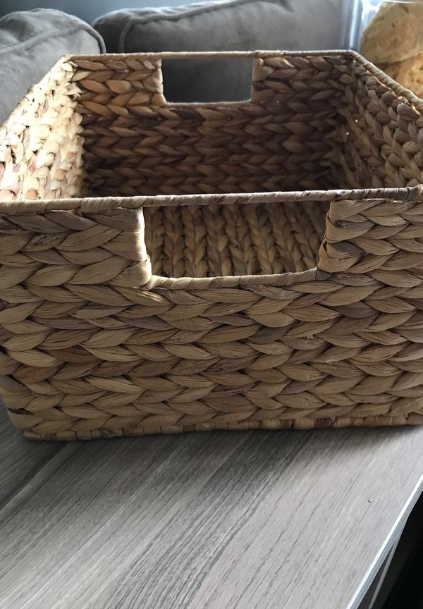 Banana Leaf Basket Decorative Storage Container