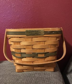 Longaberger Christmas Collection 1995 Edition Cranberry Basket for Sale in Burien, WA