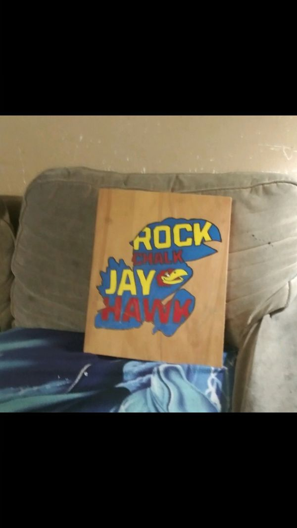 Jay hawk hand painted and drawn
