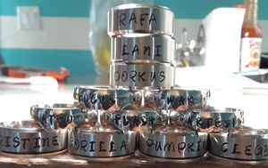 Personalized stainless steel rings stamped with any name for Sale in Hawaiian Gardens, CA