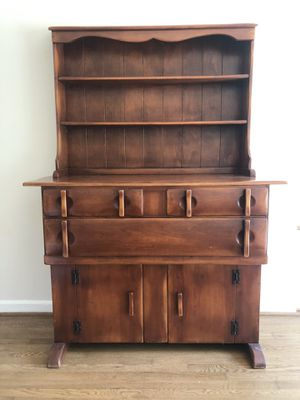 Antique Solid Wood China Cabinet/Hutch for Sale in Alexandria, VA