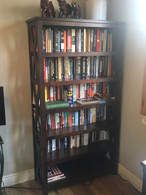 Large dark brown bookcase for Sale in Oceanside, CA