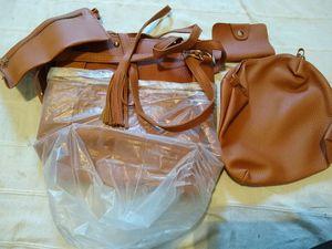Lux Decor 4 Piece: Women Handbag Shoulder Bag Leather Messenger Hobo Bag Satchel Purse Tote for Sale in Austin, TX