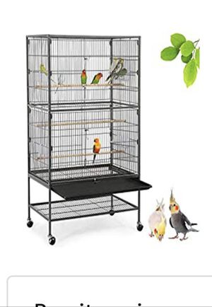 YAHEETECH 52-inch Wrought Iron Standing Large Flight King Bird Cage for Cockatiels African Grey Quaker Amazon Sun Parakeets Green Cheek Conures Pigeo for Sale in Chicago, IL