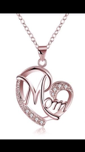 Rose Gold Mom Pendant With Chain for Sale in St. Cloud, FL