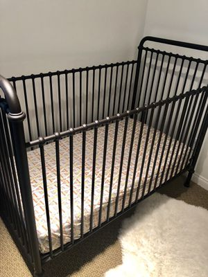 Restoration Hardware Baby & Child Bronze Crib for Sale in San Diego, CA