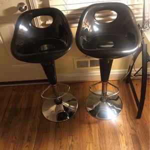 2 Black Bar Stools(adjustable) for Sale in Baltimore, MD