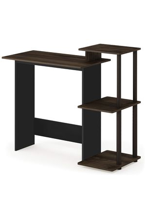 Home Computer Desk with Shelves (Walnut/Brown) for Sale in San Francisco, CA