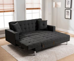 Monaco Linen Fabric Sectional Sofa Bed--turns into bed in seconds $498.00. Hot buy! In stock! Limited time offer. Free delivery for Sale in Ontario, CA