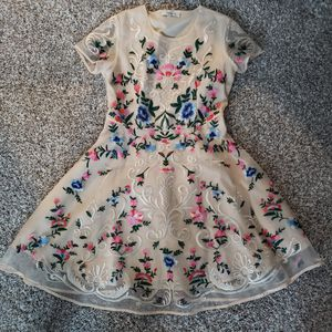 Chickwish dress size M tan embroidery homecoming prom for Sale in Tampa, FL