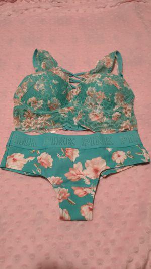 Victoria's Secret Pink Bra and Panty Set for Sale in Frostproof, FL