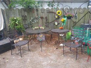 Wrought iron patio furniture set for Sale in Norfolk, VA