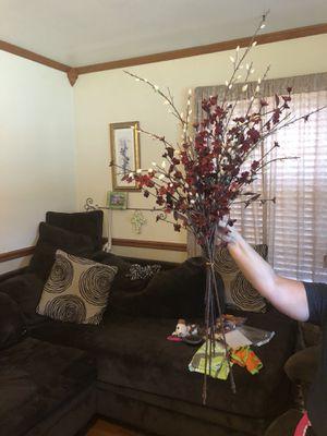 Maroon tall decorative flowers for Sale in Murfreesboro, TN