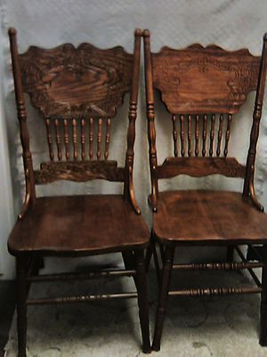 Set of solid oak chairs for Sale in Fresno, CA