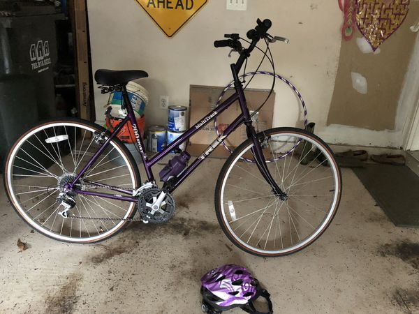 TREK his and hers purple 700 multitracker bikes