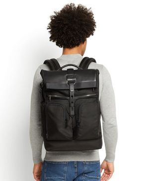 Tumi Men's Alpha Bravo London Roll-Top Backpack, Black for Sale in Irvine, CA