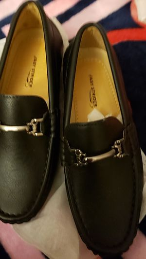 Black flat shoes boy for Sale in Fairfax, VA