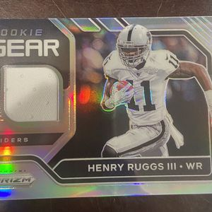 Henry Ruggs II Memrobilia And Base rookie Card for Sale in Miami, FL