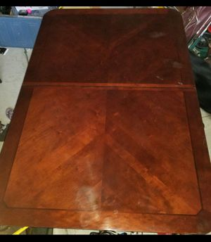 $125 OBA Dining/Conference Table with Two extenders . HEAVY WOOD for Sale in Elgin, SC