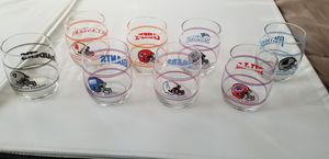 Set of 8 Old 90's NFL Promo Glasses from Shell Gas Stations for Sale in Oak Point, TX