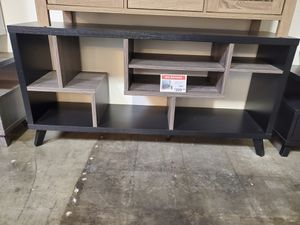 Tv Stand, Black & Distressed Grey for Sale in Norwalk, CA