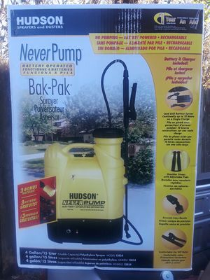 Hudson battery powered back pack sprayer for Sale in Port Arthur, TX