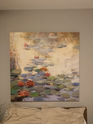 Large lily pad painting for Sale in Saint Paul, MN