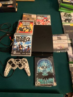 PlayStation 3 1 controller 6 games for Sale in Katy, TX