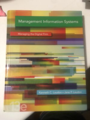 Management information systems managing the digital firm for Sale in San Antonio, TX