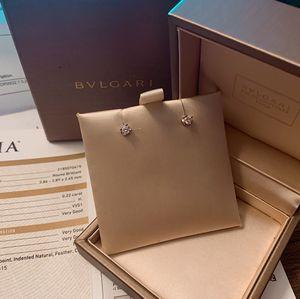 Bvlgari Bulgari 0.22 Carat Diamond Earbuds Earrings Authentic With Certification for Sale in Philadelphia, PA