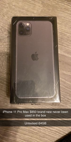 iPhone 11 Pro Max unlocked 64GB NEW for Sale in St. Louis, MO
