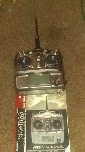 Airtronics sd-10g. 10 channel 2.4ghz drone helicopter and airplane controller for Sale in Bakersfield, CA