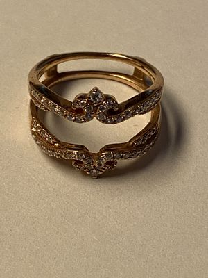 14k rose gold diamond wrap and 14k rose gold LeVian garnet ring for Sale in Winchester, VA