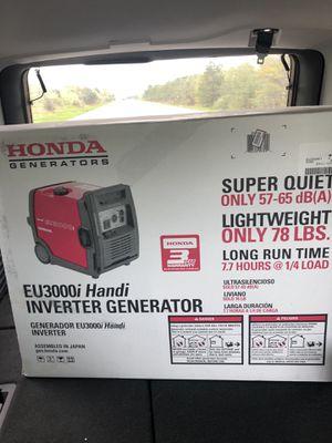 Honda Inverter generator for Sale in Wilmington, DE