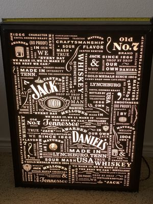 Jack Daniel's Promo Light Box (Backlit) for Sale in Austin, TX