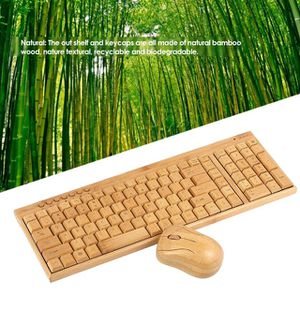 2.4G Wireless Bamboo PC Keyboard and Mouse for Sale in Birmingham, AL